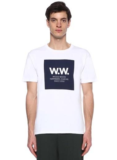 Wood Tişört Beyaz